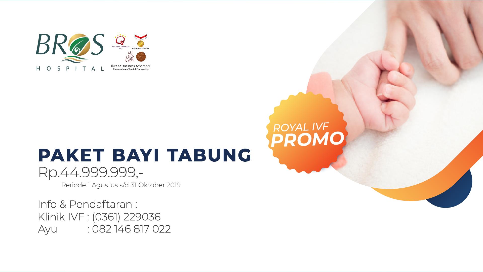 Promo Bayi Tabung Bali Royal Hospital 2019