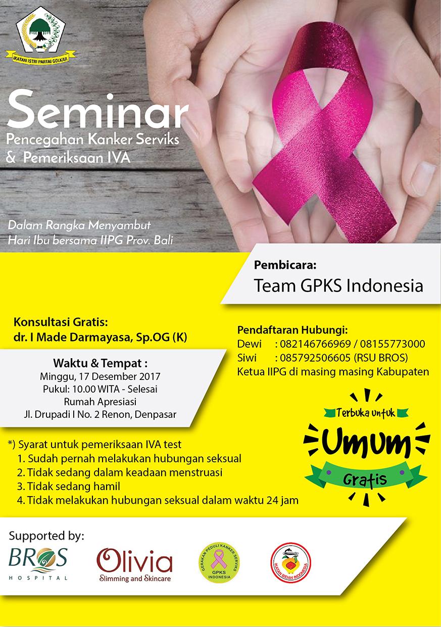 Seminar Pencegahan Kanker Serviks & Pemeriksaan IVA - Bali ...