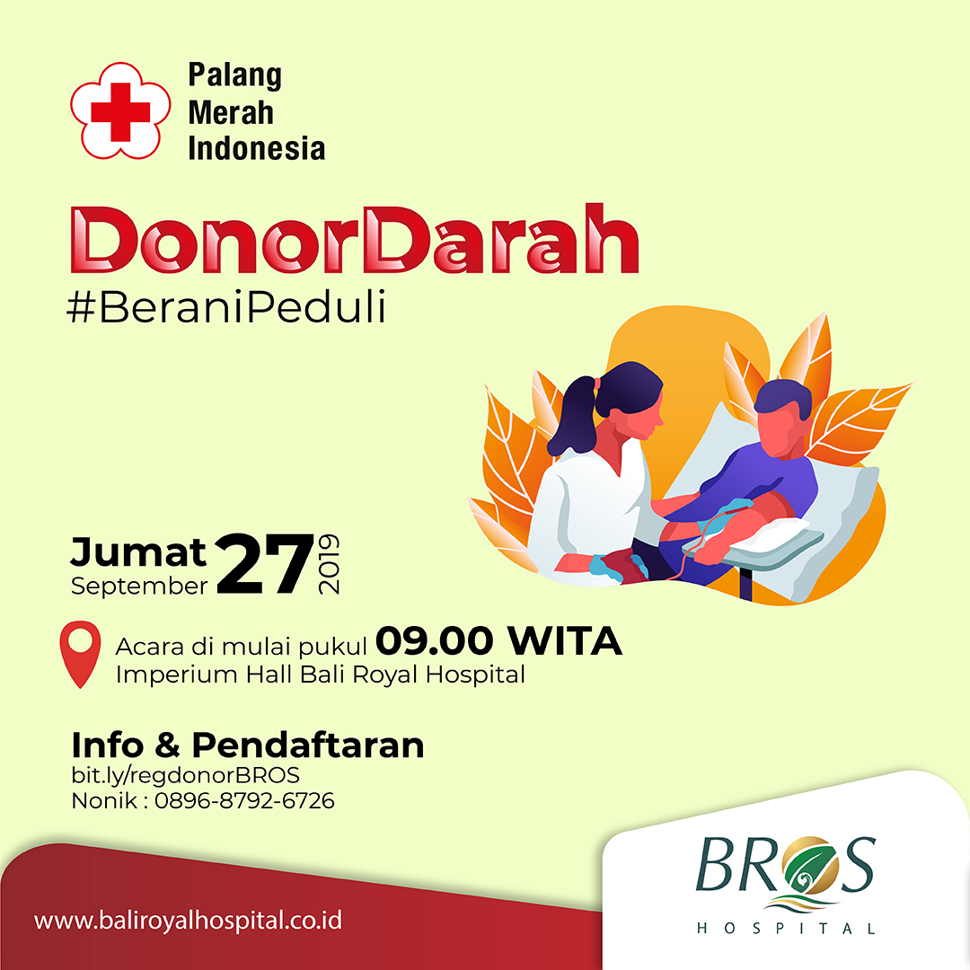 Donor darah BROS 27 September 2019