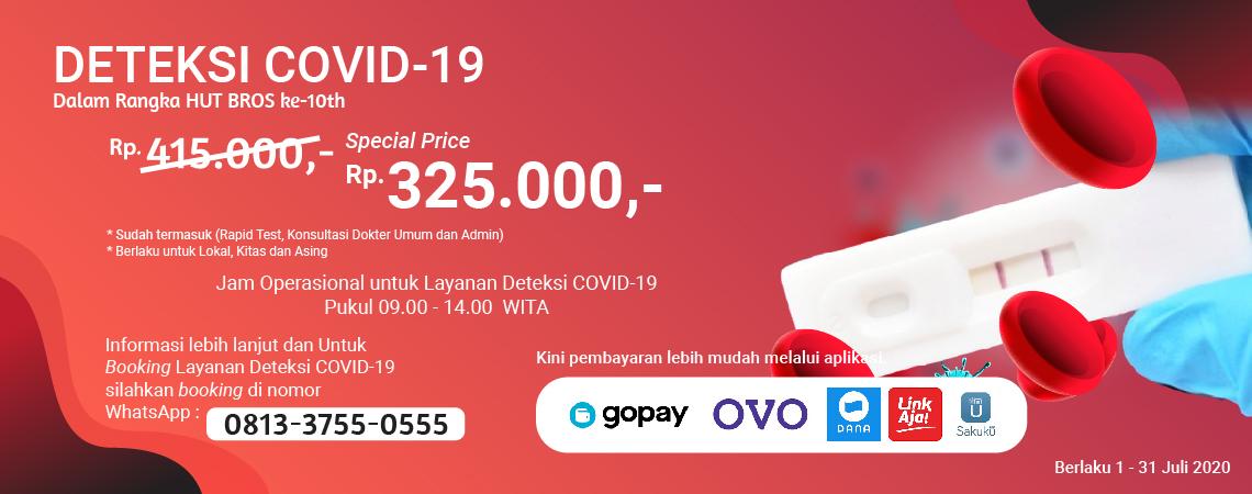 Promo Rapid Test Murah Rp325.000,-