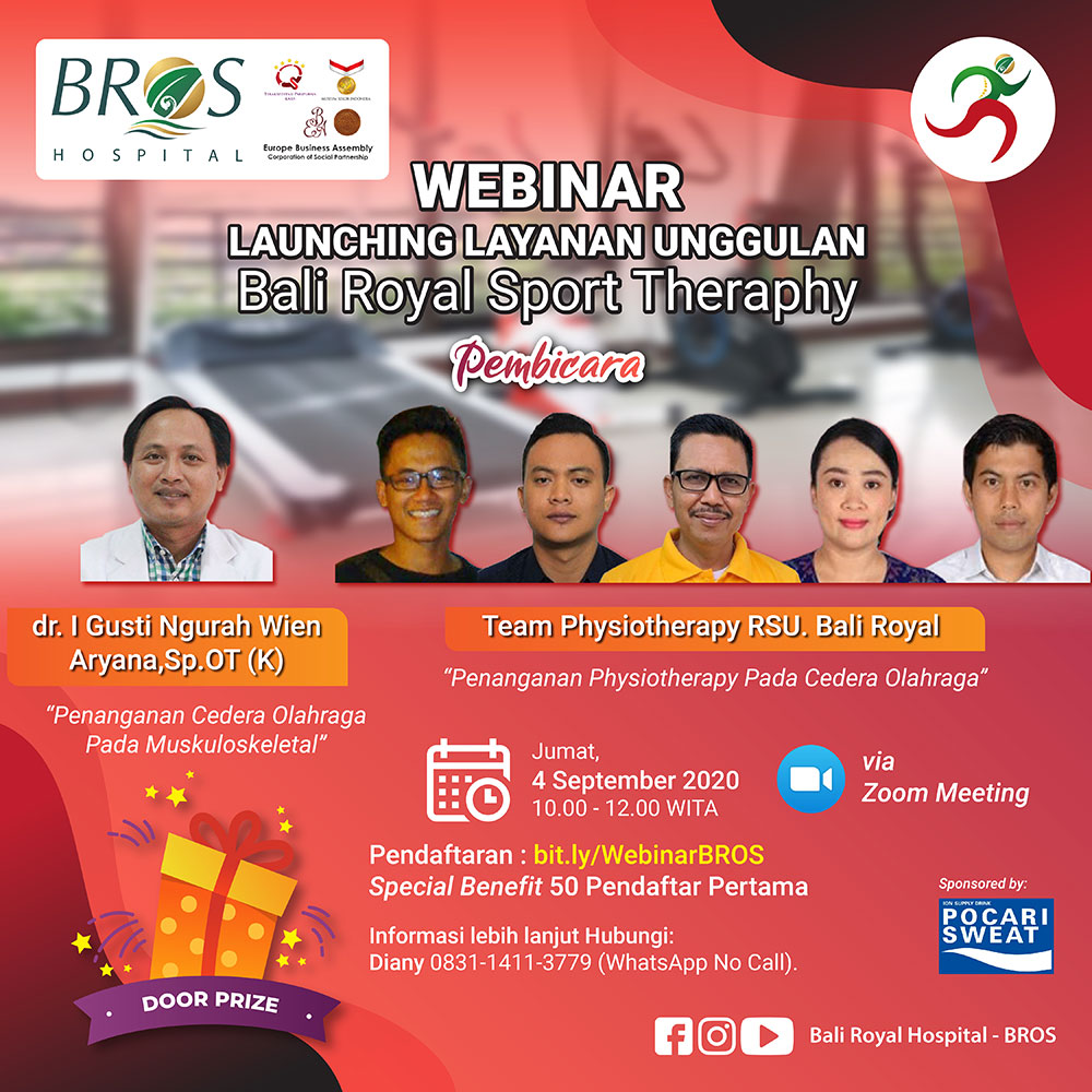 Webinar Launching Layanan Unggulan Bali Royal Sport Therapy di Bali